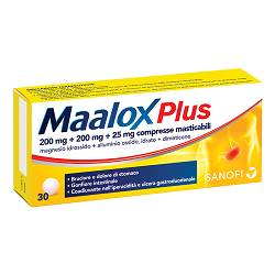 Maalox Plus 30 cpr mast.